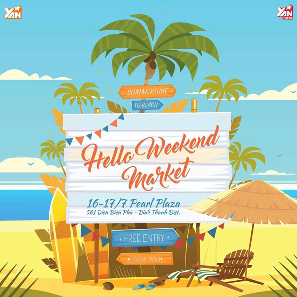 """Khởi động """" Mùa hè sôi động"""" cùng Hello Weekend Market tại Pearl Plaza"""
