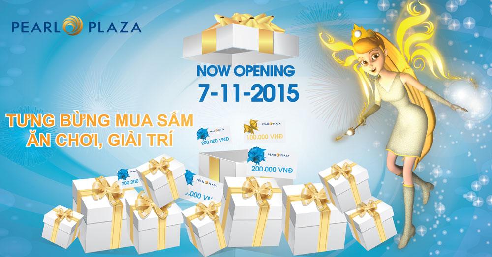 PEARL PLAZA – Trung tâm thương mại mới nhất ở Việt Nam Tưng bừng mở cửa ngày 07.11.2015