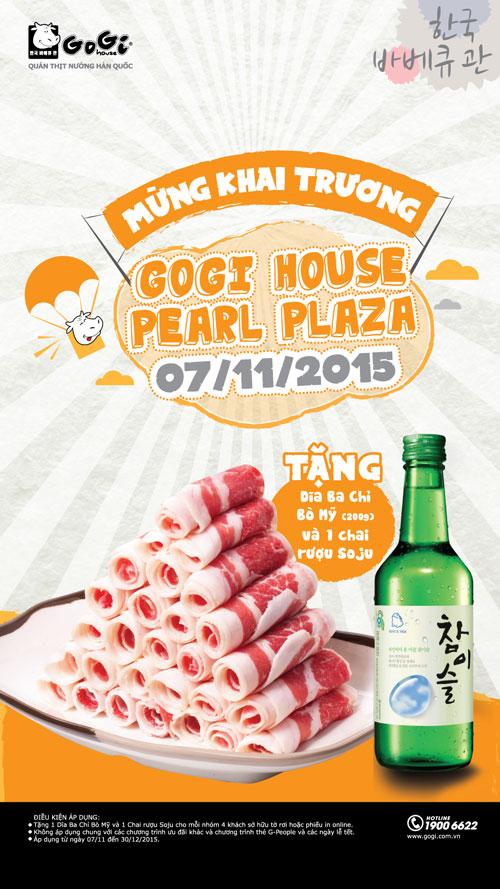 Mừng khai trương Gogi House Pearl Plaza 7.11.2015