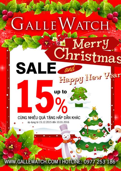 Nhân dịp Giáng Sinh và đón mừng Năm Mới, Galle Watch giảm giá đến 15%