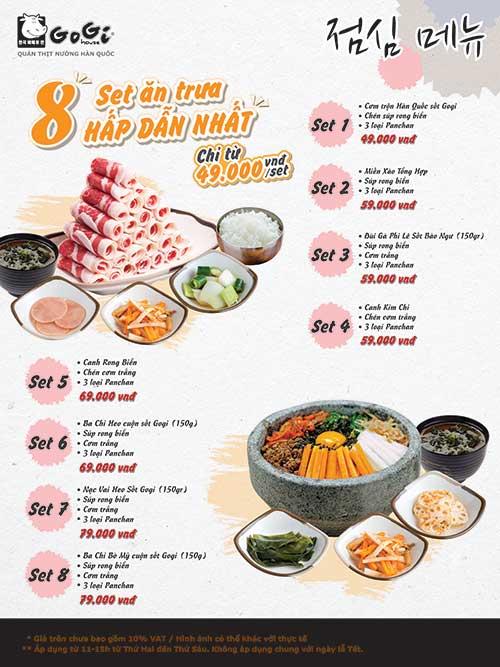 Chương trình khuyến mãi set lunch của gian hàng Gogi House (L4-02)