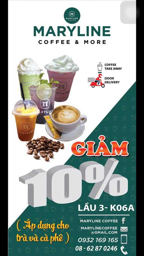 Chương trình khuyến mãi của gian hàng Maryline Coffee (L3-K06A)