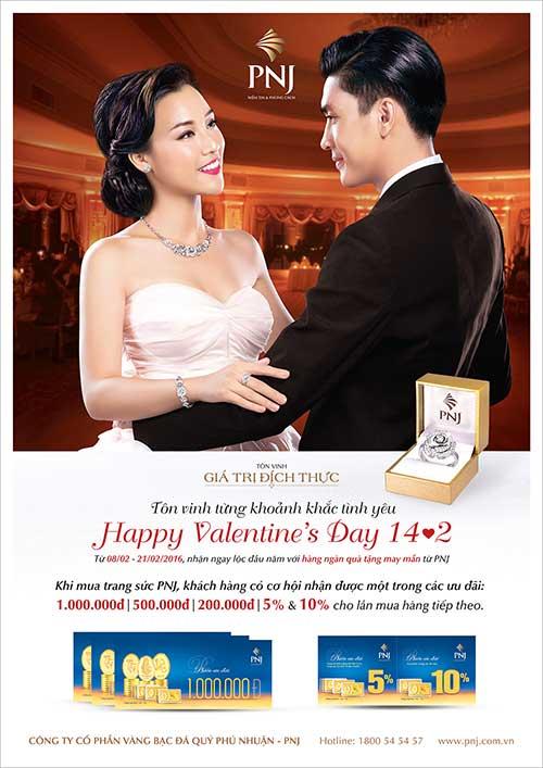 Chương trình khuyến mãi Valentine 2016 của gian hàng PNJ