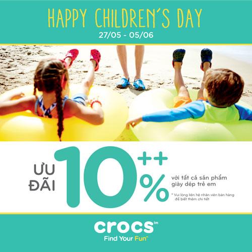Chương trình khuyến mãi 1 tháng 6 của nhãn hàng Crocs và Supersports